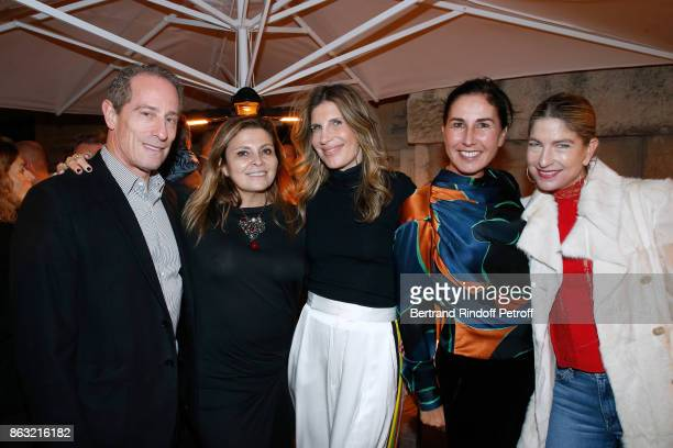 David Israel Valerie Cueto Julie Hillman Nathalie Fournier and Joyce Gato attend the Dinner for the Art Exhibition Reflexion Redux and the launch of...