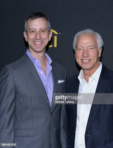 David Israelite and Cary Sherman attend the 2017 Billboard Power 100 Celebration at Cecconi's on February 9 2017 in West Hollywood California