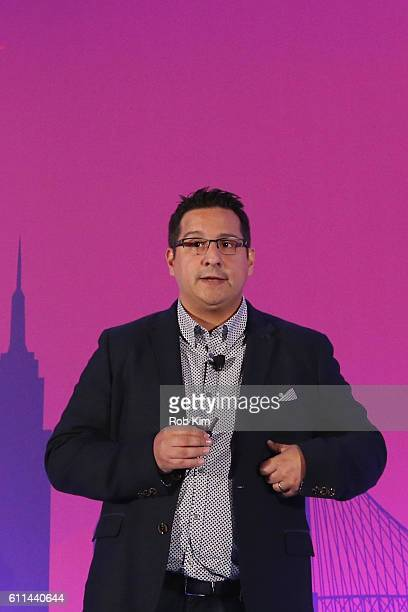 David Iudica speaks onstage at the Getting Native Video Right A Brand Playbook panel on the ADARA Stage at Times Center Hall during 2016 Advertising...
