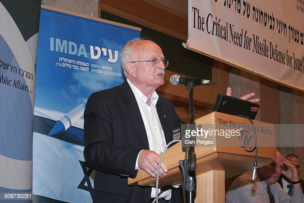 David Ivri former General commander of the Israeli Air Force and Ambassador to the US speaking at a conference on Israeli security regional diplomacy...