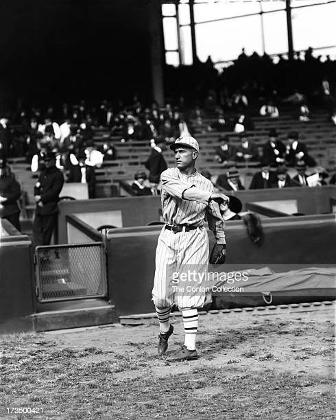 David J Bancroft of the New York Yankees throwing a ball in1922