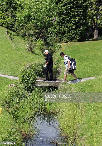 David J Russell of England in action during the final round of the DeVere Collection PGA Seniors Championship played over the Hunting Course DeVere...