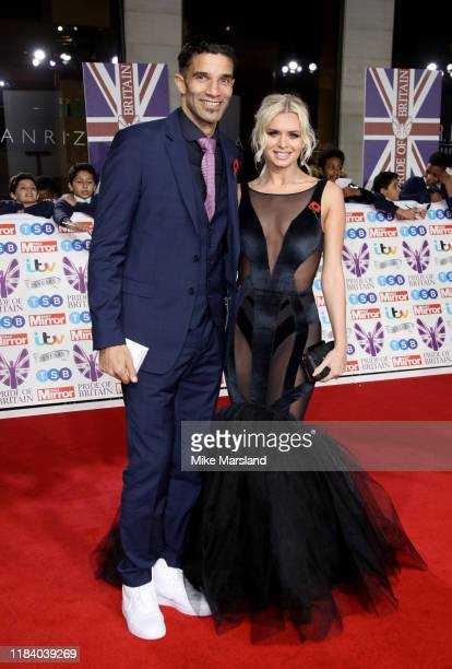 David James and Nadiya Bychkova attend Pride Of Britain Awards 2019 at The Grosvenor House Hotel on October 28, 2019 in London, England.