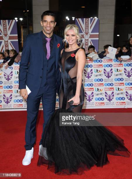 David James and Nadiya Bychkova attend the Pride Of Britain Awards 2019 at The Grosvenor House Hotel on October 28 2019 in London England