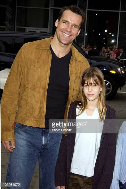 David James Elliot and Daughter during The World Premiere of Looney Tunes Back in Action at Grauman's Chinese Theater in Hollywood California United...