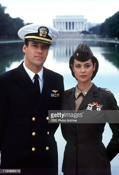 David James Elliott and Catherine Bell film scenes for their hit series JAG in Washington DC The episodes will be broadcast Tuesday Nov 10 and...
