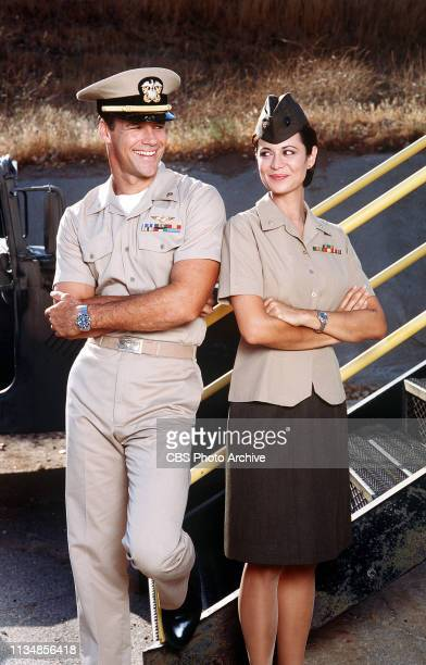 David James Elliott and Catherine Bell star as Lt Cmdr Harmon ìHarmî Rabb Jr and Marine Maj Sarah ìMacî MacKenzie in JAG the adventure drama about...