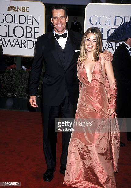 David James Elliott and Nanci Chambers during 57th Annual Golden Globe Awards Arrivals at Beverly Hilton Hotel in Los Angeles California United States