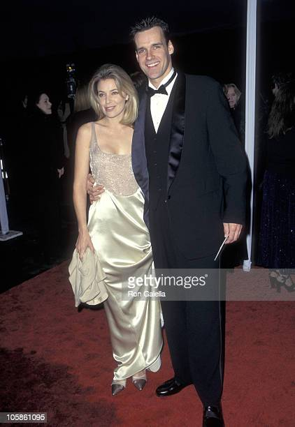 David James Elliott and Nanci Chambers during The 23rd Annual People's Choice Awards at Santa Monica Airport in Santa Monica California United States