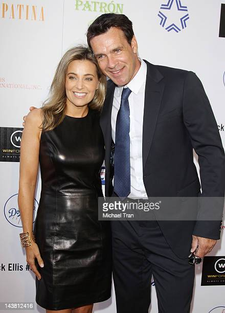 David James Elliott and wife Nanci Chambers arrive at A Better LA's 1st Annual In The Art of The City flagship fundraiser held at Vibiana on May 3...