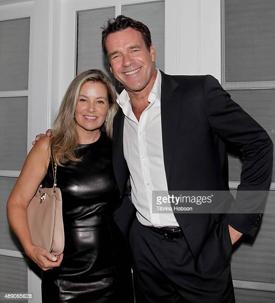 David James Elliott and wife Nanci Chambers attend the Gersh Emmy nominees celebration on September 18 2015 in Beverly Hills California