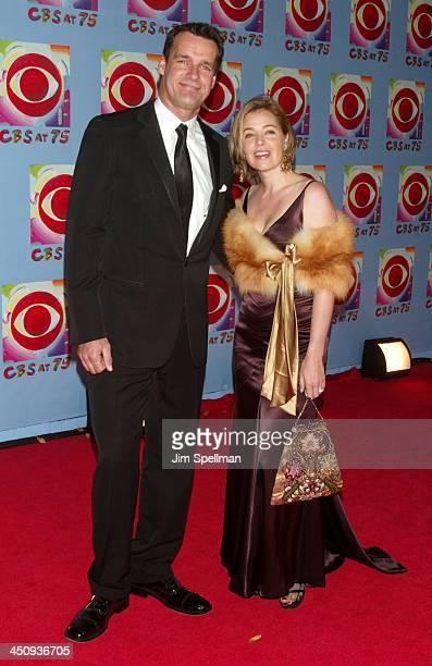 David James Elliott and wife Nanci Chambers during CBS at 75 at Hammerstein Ballroom in New York City New York United States