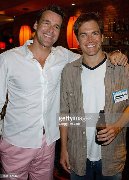 David James Elliott Michael Weatherly during 2003 TCA Summer Press Tour CBS Party in Hollywood California United States