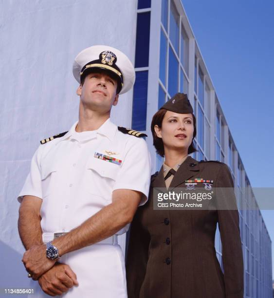 David James Elliott stars as Lt Cmdr Harmon Harm Rabb and Catherine Bell stars as Lt Col Sarah Mac MacKenzie on JAG
