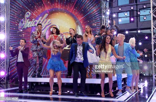 David James, Emma Barton, Chris Ramsey, Catherine Tyldesley, Dev Griffin, Emma Weymouth and James Cracknell Will Bayley, Saffron Barker, Mike...