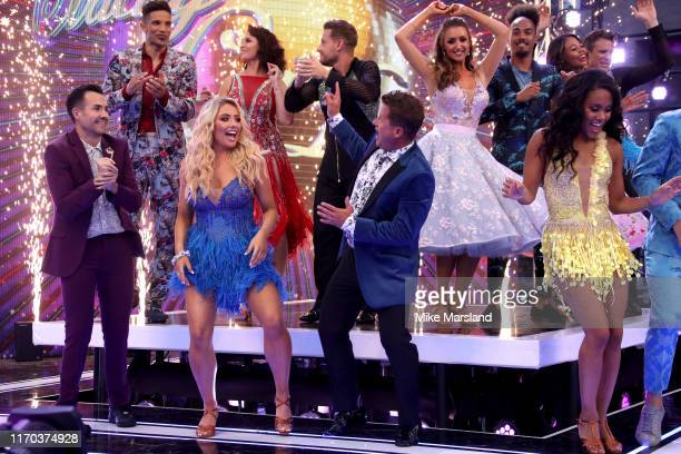 David James, Emma Barton, Chris Ramsey, Catherine Tyldesley, Dev Griffin, Emma Weymouth and James Cracknell Will Bayley, Saffron Barker, Mike Bushell...
