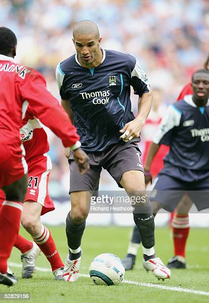 David James the Man City goalkeeper plays at centre forward during the FA Barclays Premiership match between Manchester City and Middlesbrough, held...