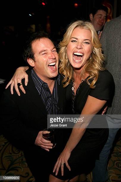 David Janollari President Entertainment The WB and Rebecca Romijn