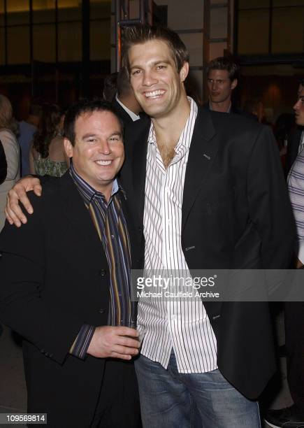 David Janollari president of WB Entertainment and Geoff Stults