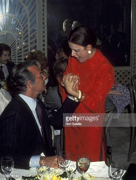 David Janssen and Anna Strasberg during ReWedding of Sammy Davis Jr and Altovise Davis at Bistro Restaurant in Beverly Hills California United States