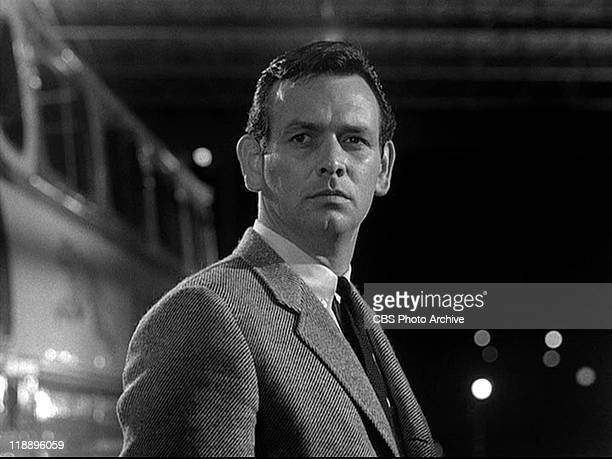 David Janssen as Dr Richard Kimble in THE FUGITIVE Season 1 episode 1 Fear in a Desert City Original airdate September 17 1963 Image is a frame grab