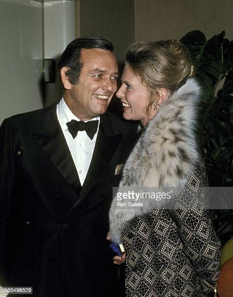 David Janssen with girlfriend Rosemary Forsyth during David Janssen File Photos by Ron Galella California United States