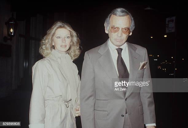 David Janssen with is wife Dani on the street circa 1970 New York