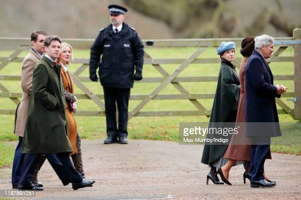 David JardinePaterson Emilia JardinePaterson Carole Middleton and Michael Middleton attend Sunday service at the Church of St Mary Magdalene on the...