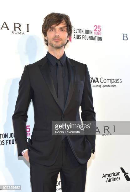David Jarre attends the 26th annual Elton John AIDS Foundation's Academy Awards Viewing Party at The City of West Hollywood Park on March 4 2018 in...