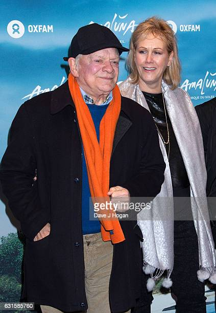 David Jason and Gill Hinchcliffe attend the blue carpet of the Cirque du Soleil Amaluna press night on January 12 2017 in London United Kingdom