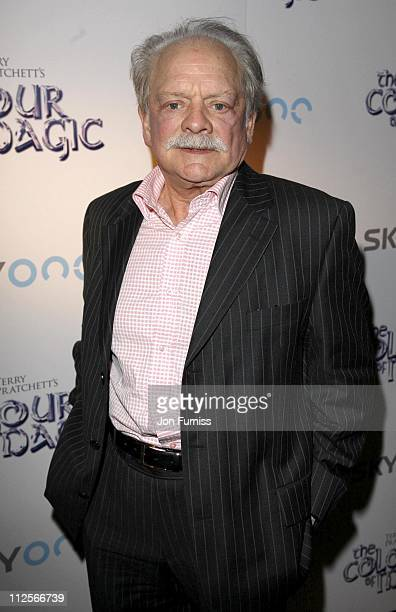 David Jason attends the TV Premiere of The Colour Of Magic on March 3 2008 in London England