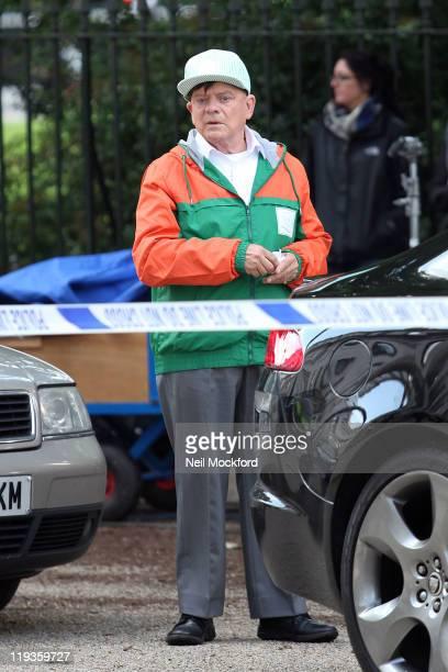David Jason filming near Euston Station on July 19 2011 in London England