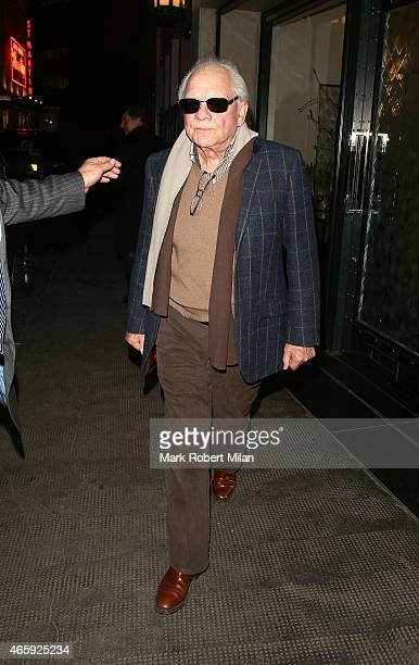David Jason leaving the Ivy Club on March 11 2015 in London England