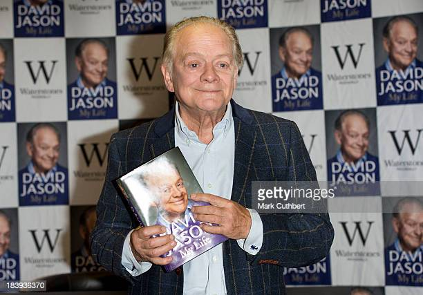 David Jason meets fans and signs copies of his book 'My Lovely Jubbly Life' at Waterstone's Piccadilly on October 10 2013 in London England