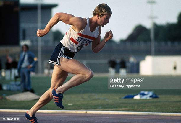 David Jenkins running in the men's 400 metres event during the Olympic trials at Crystal Palace in London on 11th June 1976
