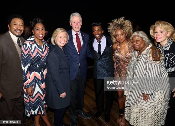 """David Jennings as """"Richard Bullock"""", Dawnn Lewis as """"Zelma Bullock"""", Hillary Clinton, Bill Clinton, Daniel J Watts as """"Ike Turner"""", Adrienne Warren..."""