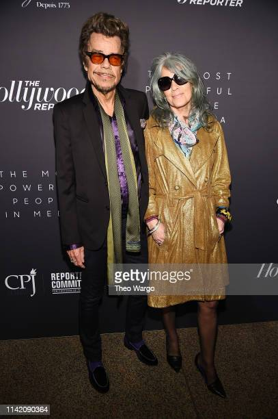 David Johansen and Mara Hennessey attend the The Hollywood Reporter's 9th Annual Most Powerful People In Media at The Pool on April 11, 2019 in New...