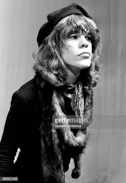 David Johansen from The New York Dolls performs live on TopPop TV show for AVRO TV at Hilversum Studios on December 06 1973