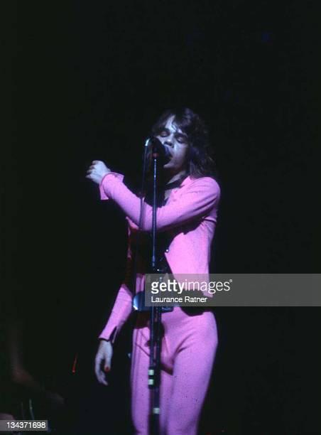 David Johansen of New York Dolls 1973 during New York Dolls in Concert at Auditorium Theatre 1973 at Auditorium Theatre in Chicago Illinois United...