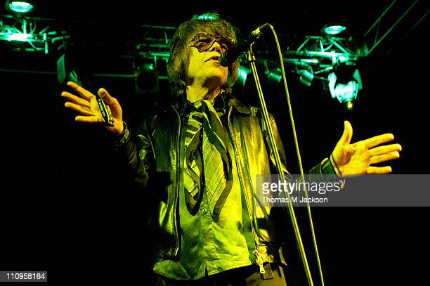 David Johansen of New York Dolls performs on stage at O2 Academy on March 27, 2011 in Newcastle upon Tyne, United Kingdom.
