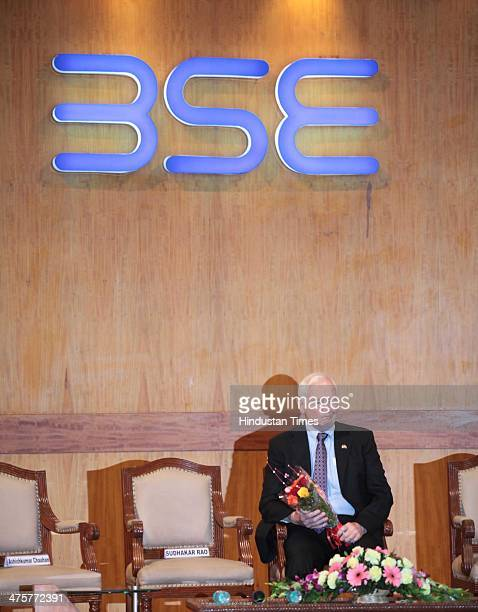 David Johnston Governor General of Canada at Bombay Stock Exchange on February 28 2014 in Mumbai India Johnston urged the need for educational...
