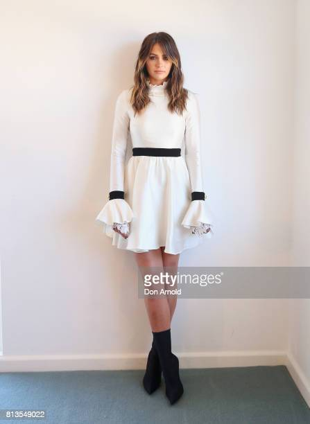 David Jones ambassador Jesinta Franklin poses during the David Jones Spring Summer 17 Collections Launch Model Casting on July 13 2017 in Sydney...