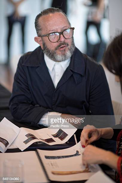 David Jones head stylist Kelvin Harries pictured during the casting of models from Australias top modelling agencies for the much anticipated David...
