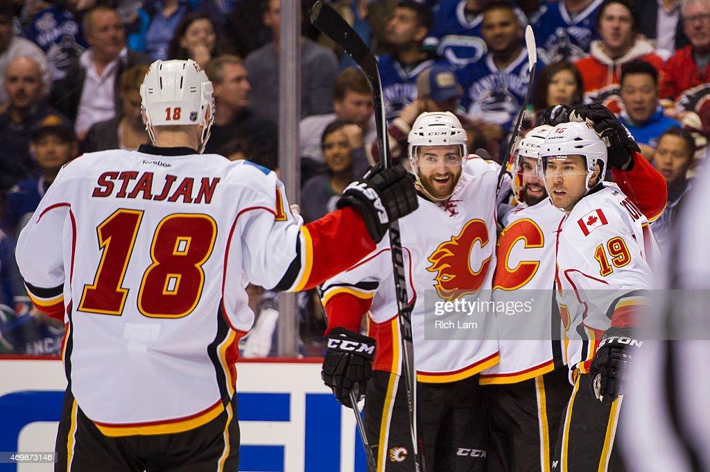 Calgary Flames v Vancouver Canucks - Game One