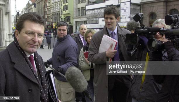 David Jones the Head of Information at the Serious Fraud office makes a statement to the waiting media outside the High Court in central London * The...