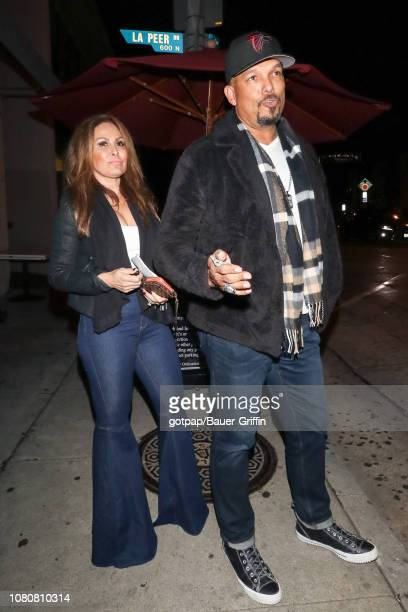 David Justice and Rebecca Villalobos are seen on January 10 2019 in Los Angeles California