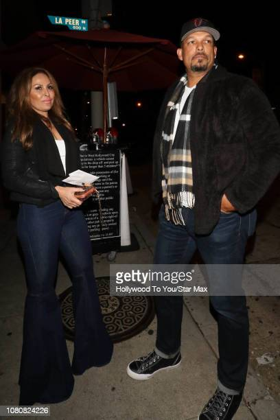 David Justice and Rebecca Villalobos are seen on January 10 2019 in Los Angeles CA