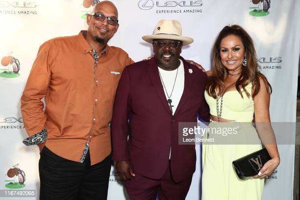 David Justice Cedric the Entertainer and Rebecca Villalobos attend the 7th Annual Cedric The Entertainer Celebrity Golf Classic VIP Reception at...