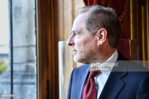 David Kahn CEO of Paris Basketball Investments during the press conference of Paris Basket Avenir on July 12 2018 in Paris France