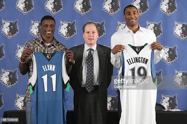 David Kahn President of Basketball Operations of the Minnesota Timberwolves introduces 2009 NBA first round draft selections Jonny Flynn and Wayne...
